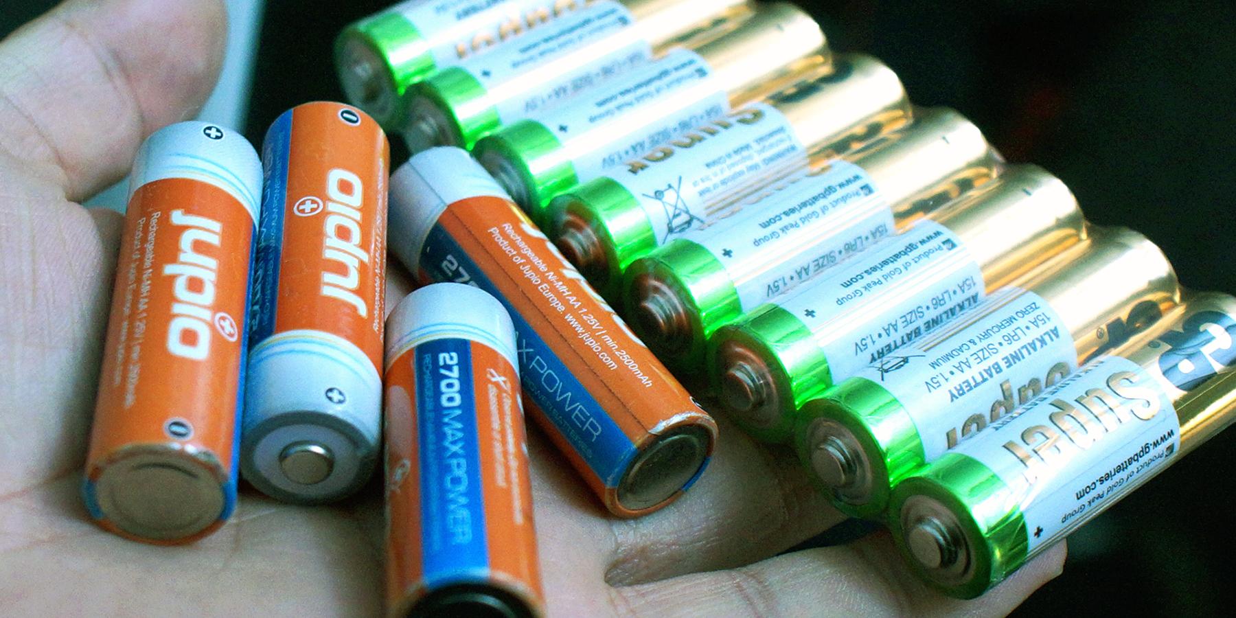 flitser batterijen alkaline oplaadbaar